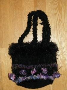Black Fun Party Bag with shoulder straps - £25