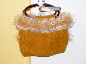 Golden Evening Bag - £29