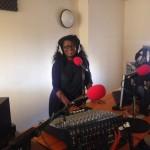 Sandra Pollock at the Radio2Funky Studios