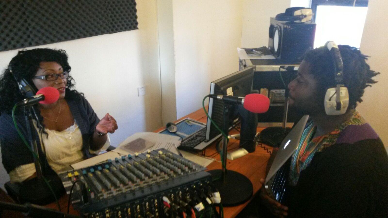 The Orator talking to Sandra Pollock